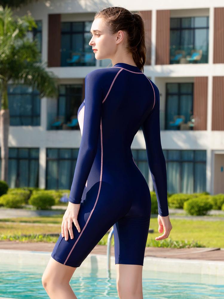 Y2135,图片1,休闲连体及膝泳衣