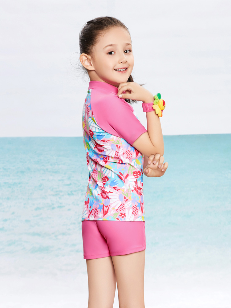 Y0377,图片1,女童分体泳装
