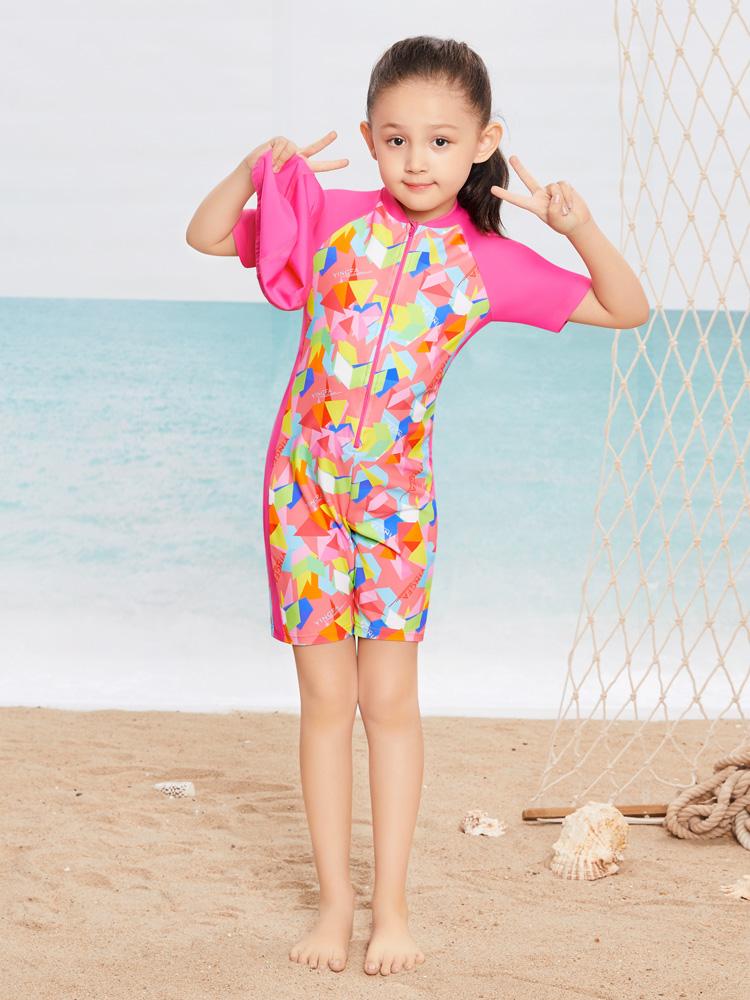Y0389,图片1,短袖连体泳衣