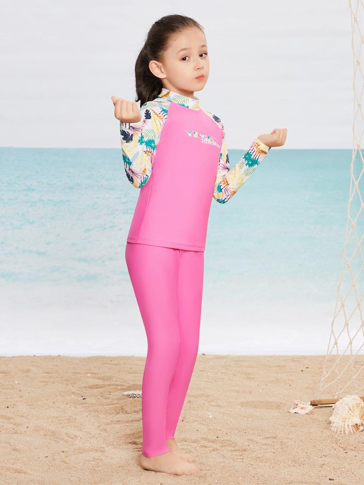 Y0501,图片1,女童分体泳衣