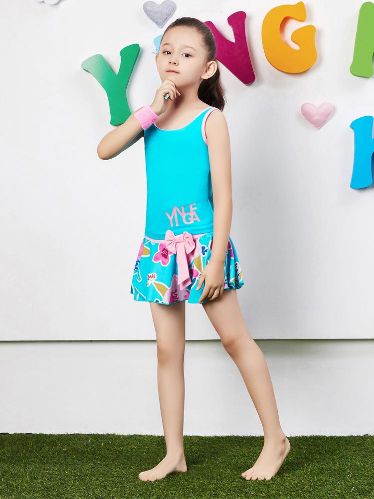 Y0370,图片3,女童裙式泳衣