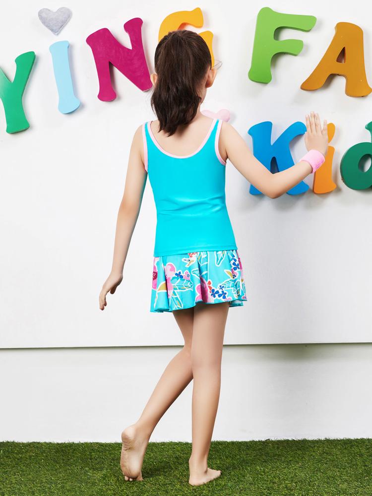 Y0370,图片2,女童裙式泳衣