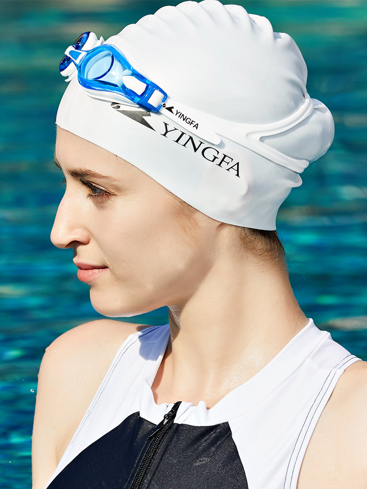 C0067,图片2,成人儿童纯色游泳帽