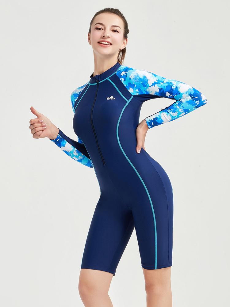 Y2128,图片2,长袖连体及膝泳衣