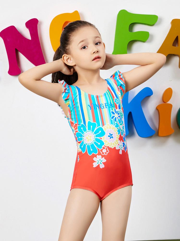 Y0383,图片2,女孩可爱防晒游泳衣