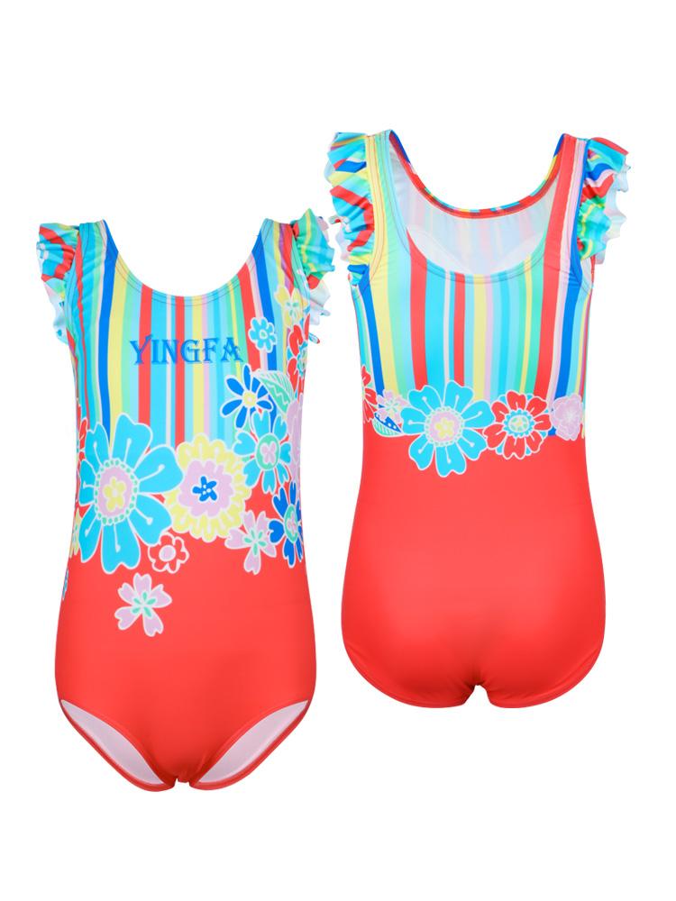 Y0383,图片4,女孩可爱防晒游泳衣