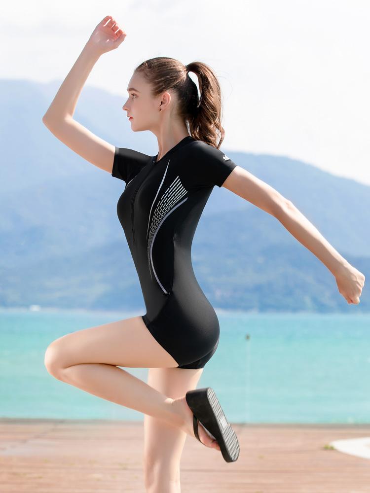 Y2136,图片1,休闲连体平角泳衣