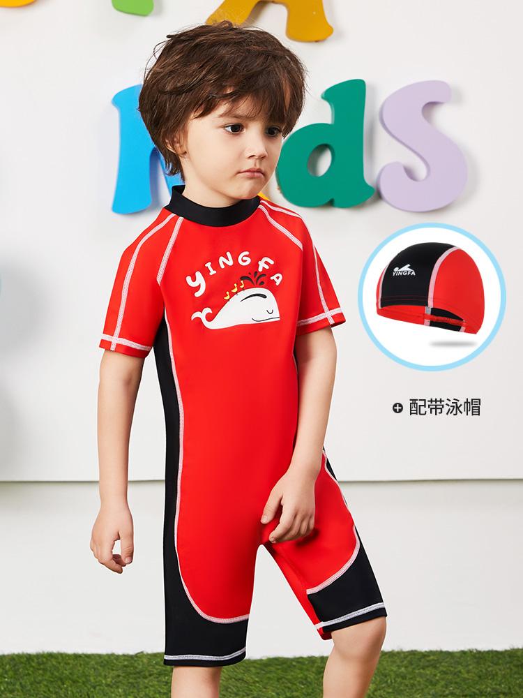 Y0512,图片1,短袖男童连体泳衣