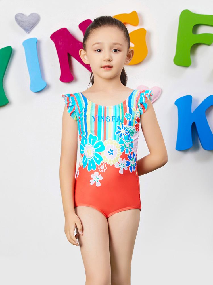 Y0383,图片3,女孩可爱防晒游泳衣