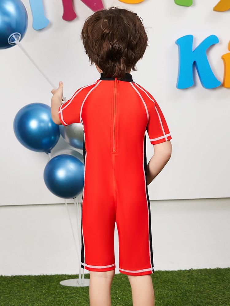 Y0512,图片3,短袖男童连体泳衣