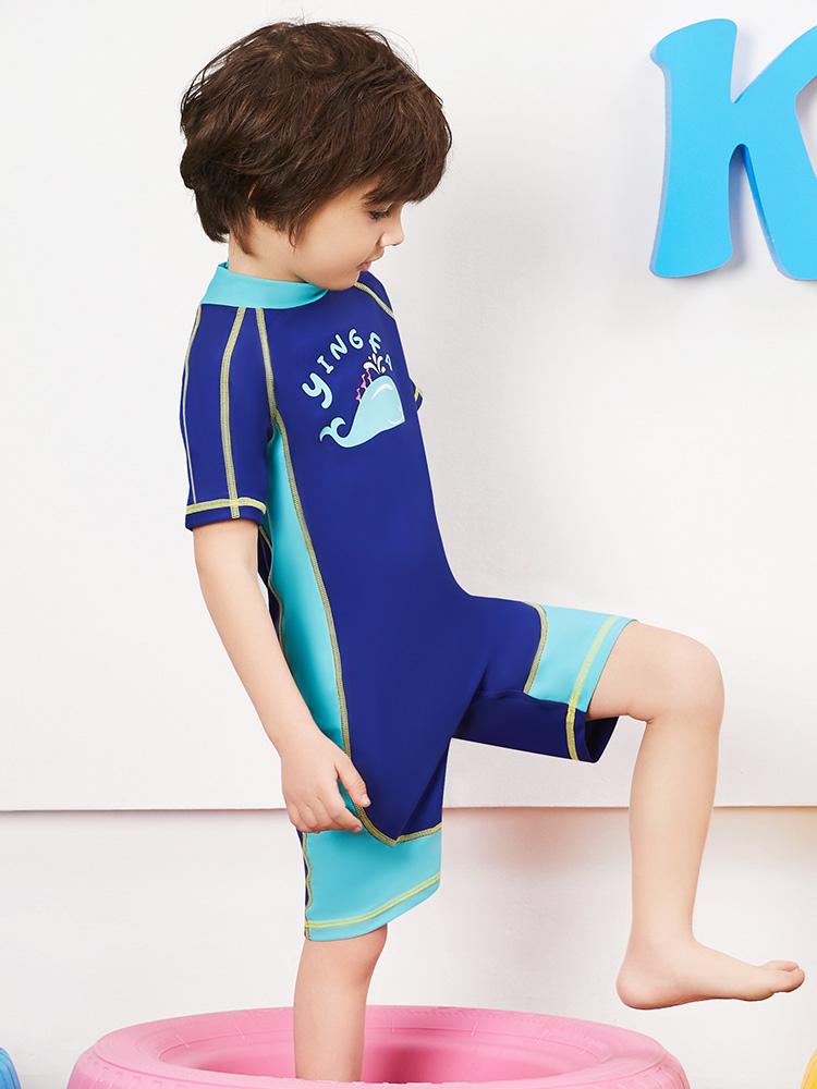 Y0512,图片2,短袖男童连体泳衣