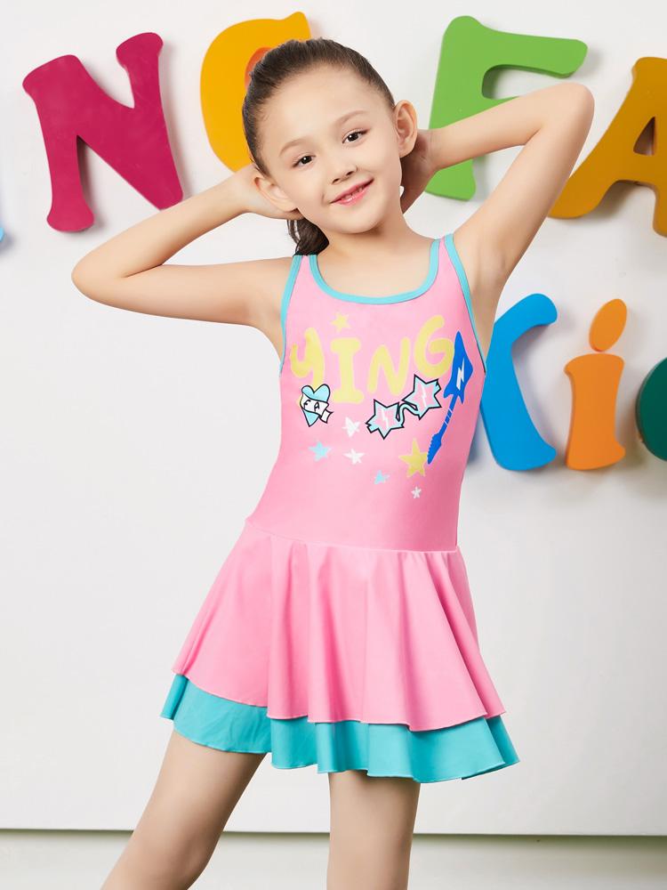 Y0397,图片3,儿童连体裙式泳衣