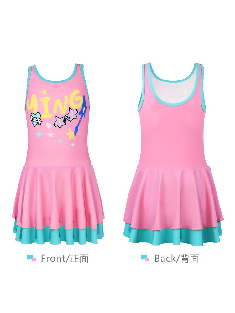 Y0397,图片4,儿童连体裙式泳衣