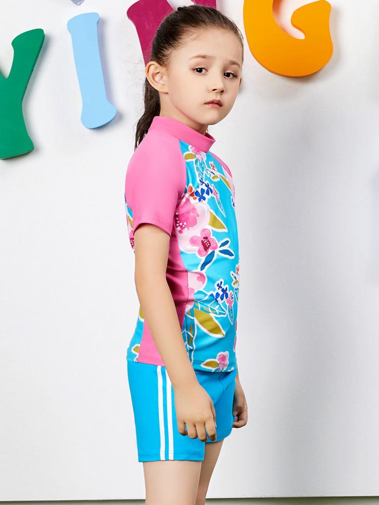 Y0380,图片2,女孩泳装泳裤套装