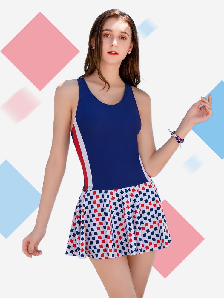 Y2117,图片1,连体裙式保守泳衣