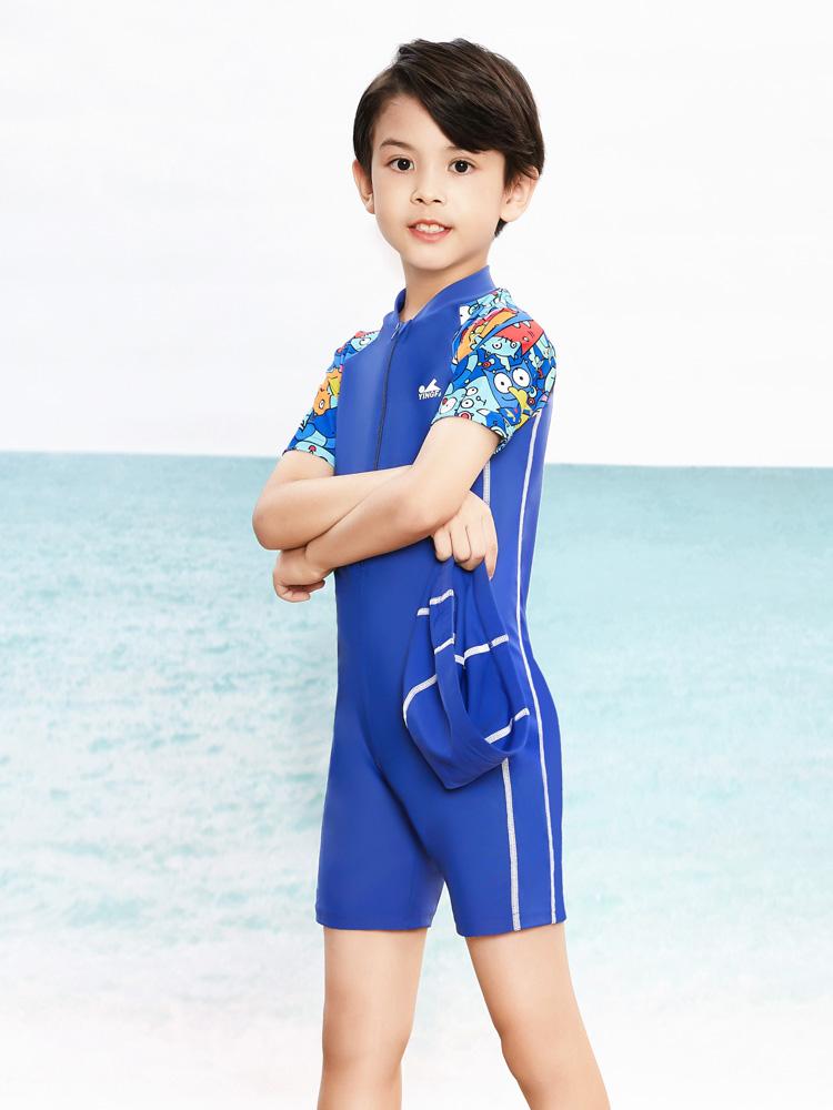 Y0509,图片1,儿童防嗮连体泳衣