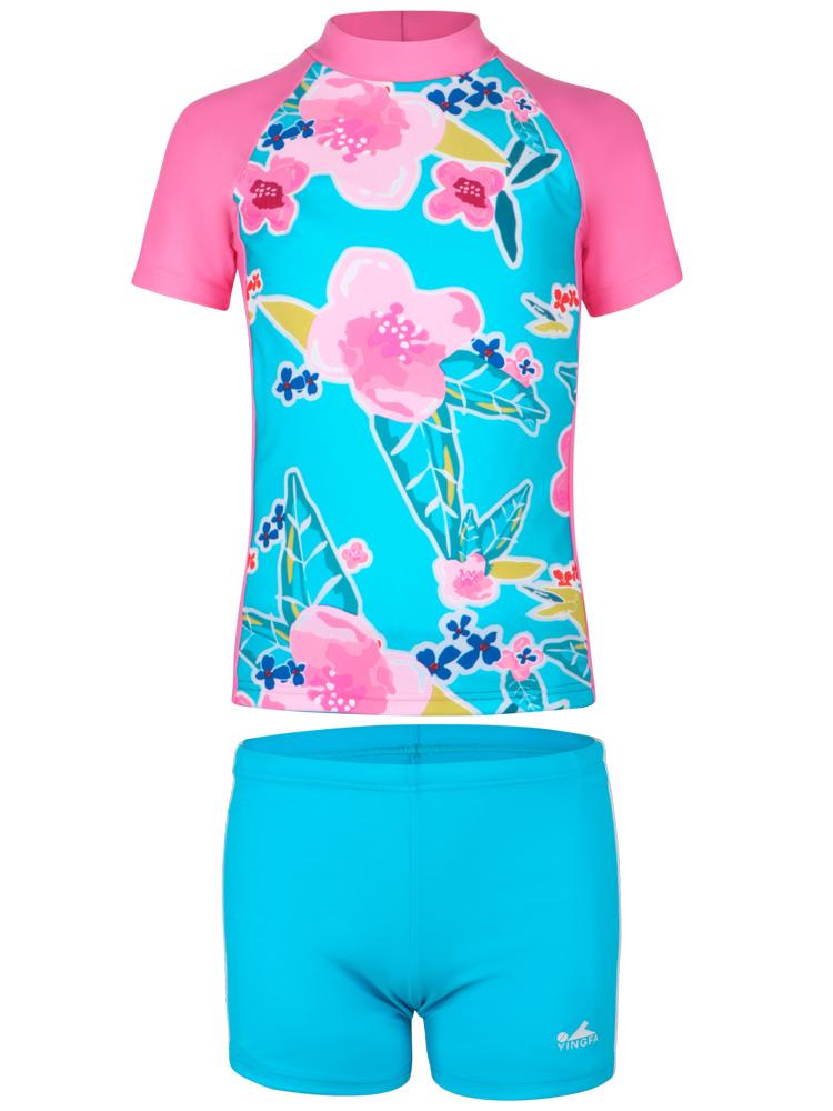 Y0380,图片4,女孩泳装泳裤套装