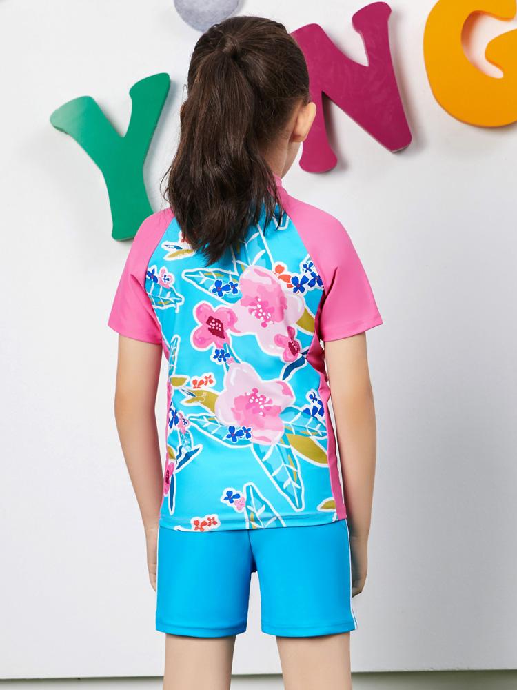Y0380,图片3,女孩泳装泳裤套装