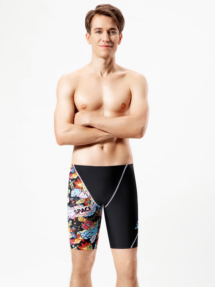 Y3927,图片3,五分平角及膝泳裤