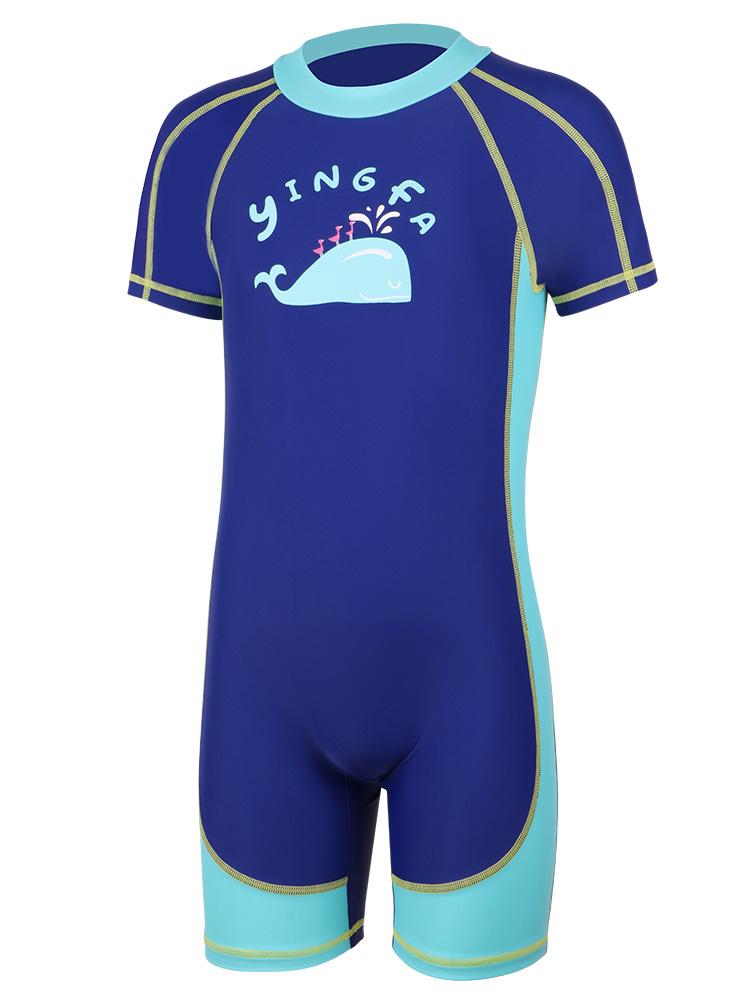 Y0512,图片4,短袖男童连体泳衣