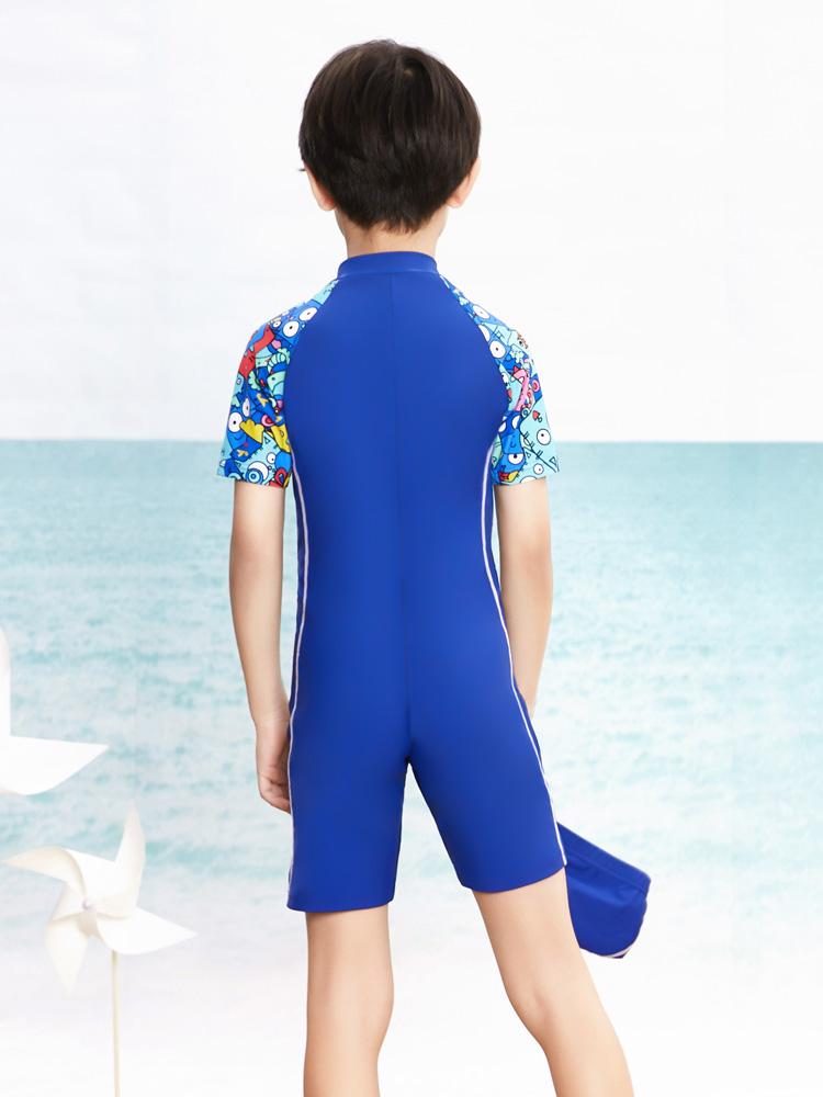 Y0509,图片2,儿童防嗮连体泳衣