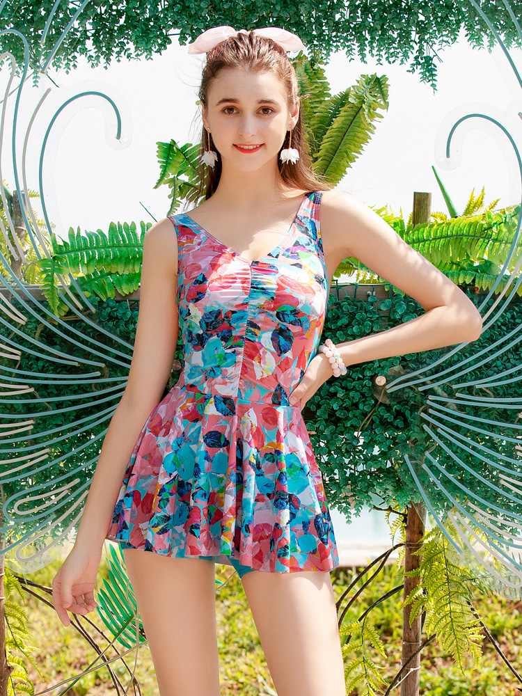 Y2118,图片2,连体裙式平角泳衣