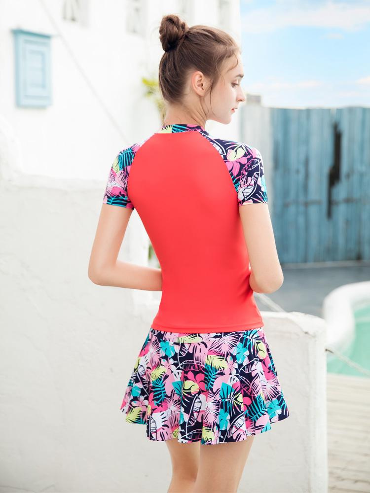 Y2111,图片2,裙式分体泳衣