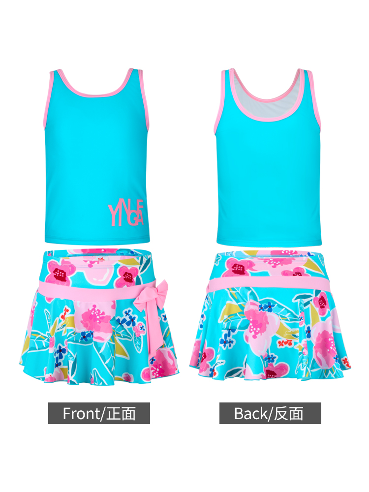 Y0370,图片4,女童裙式泳衣