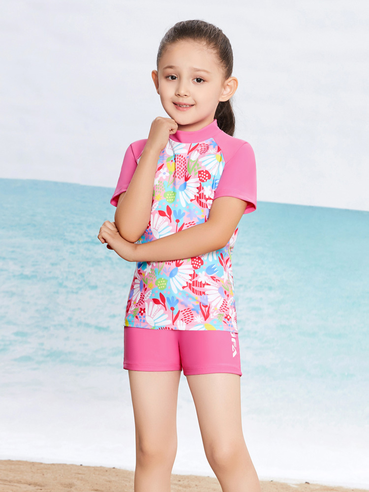 Y0377,图片2,女童分体泳装