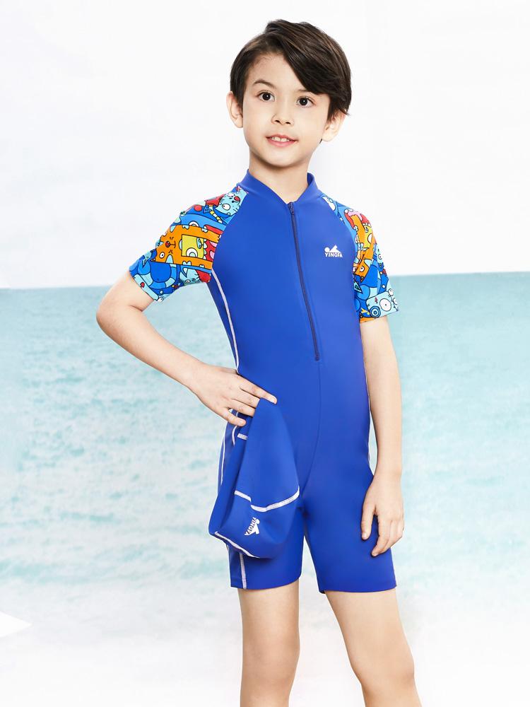 Y0509,图片3,儿童防嗮连体泳衣