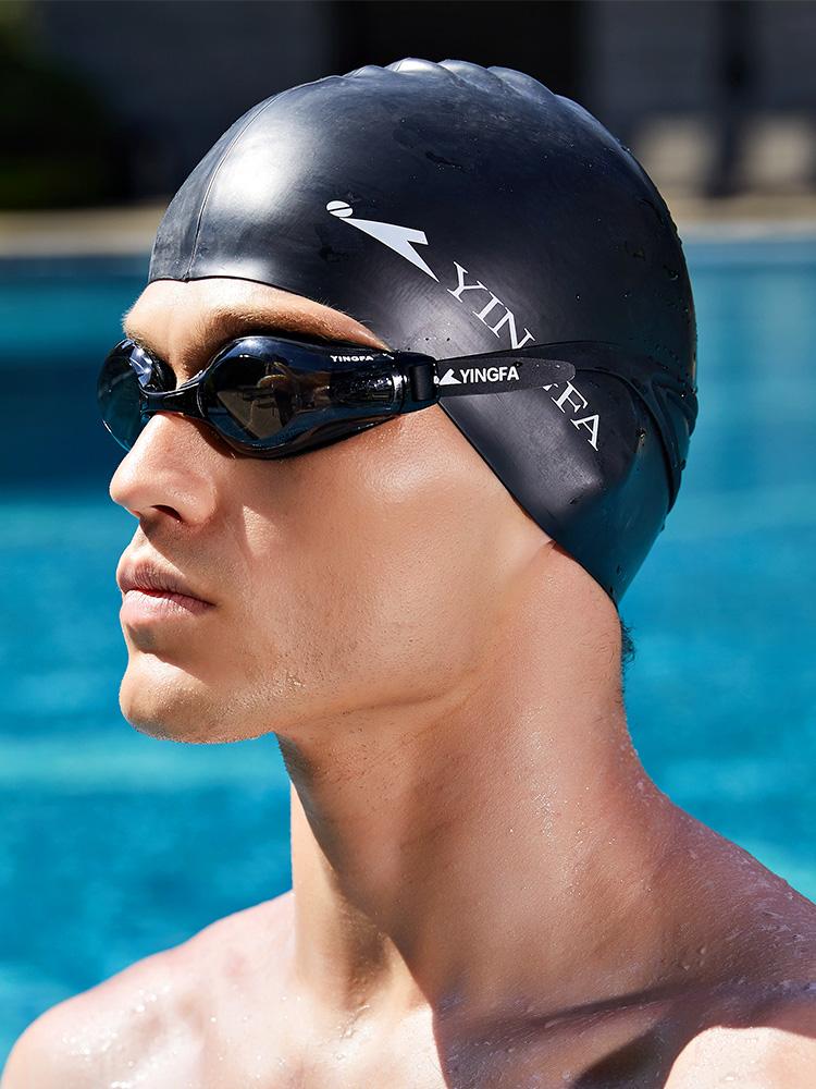 C0067,图片3,成人儿童纯色游泳帽