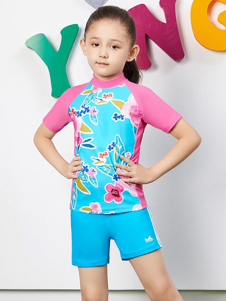 Y0380,图片1,女孩泳装泳裤套装