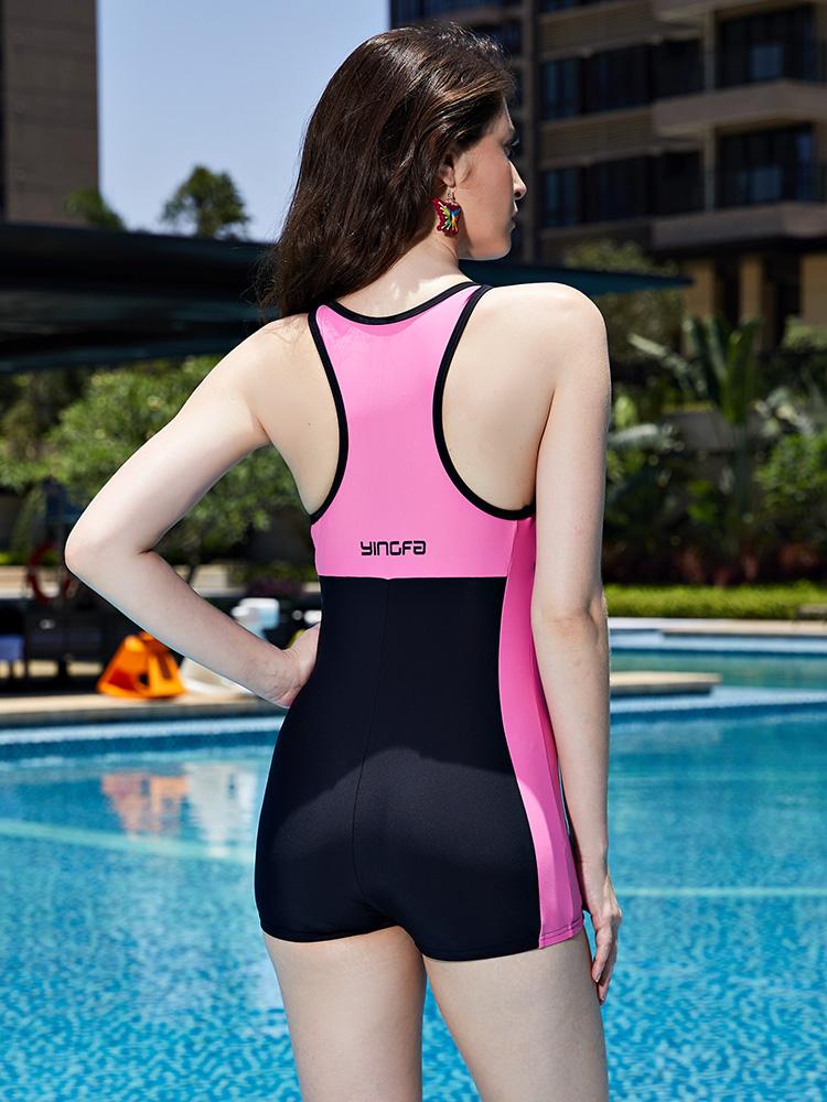 Y1907,图片3,休闲连体平角泳衣
