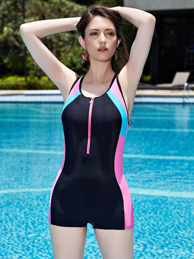 Y1907,图片4,休闲连体平角泳衣