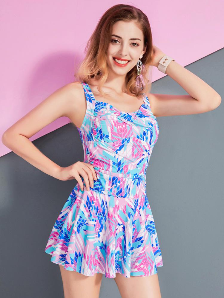Y2029,图片2,休闲连体裙式泳衣