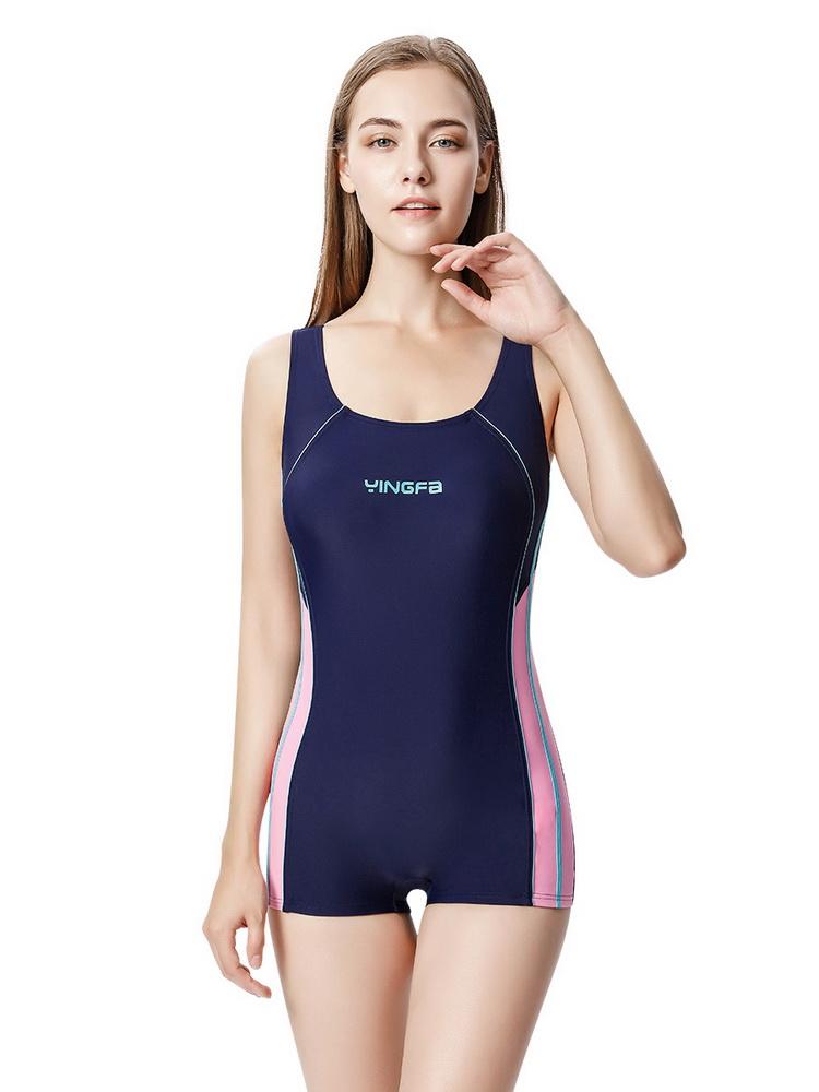 YF801,图片2,休闲连体平角泳衣