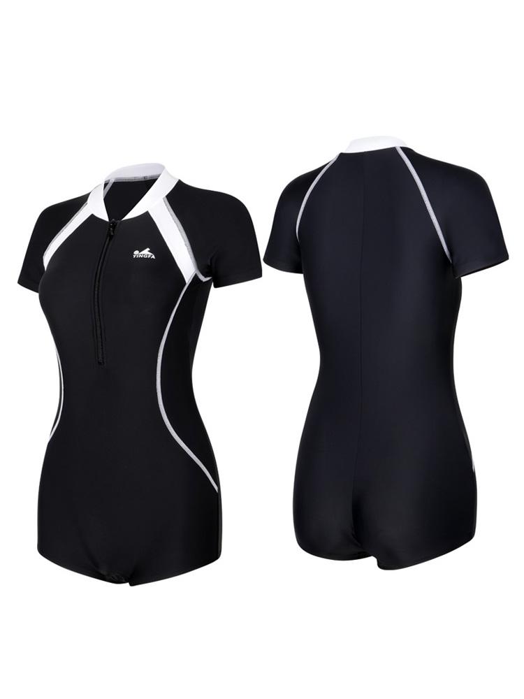 Y2025,图片4,短袖连体平角泳衣