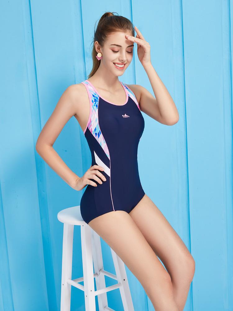 Y1933,图片3,休闲连体三角泳衣
