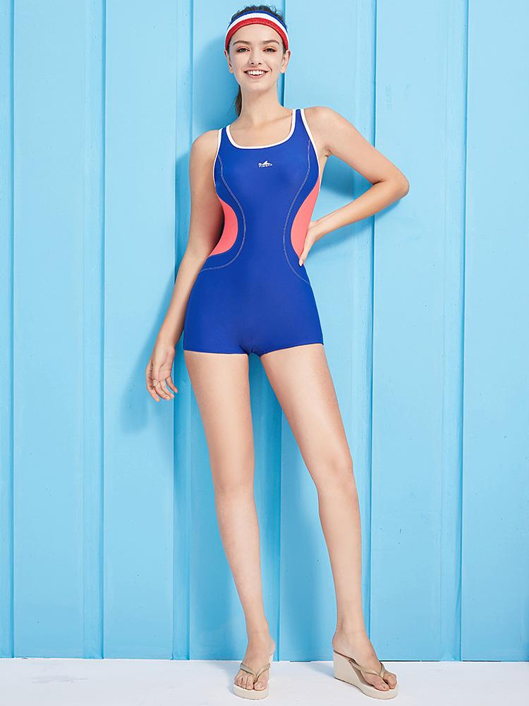 Y1928,图片3,休闲连体平角泳衣