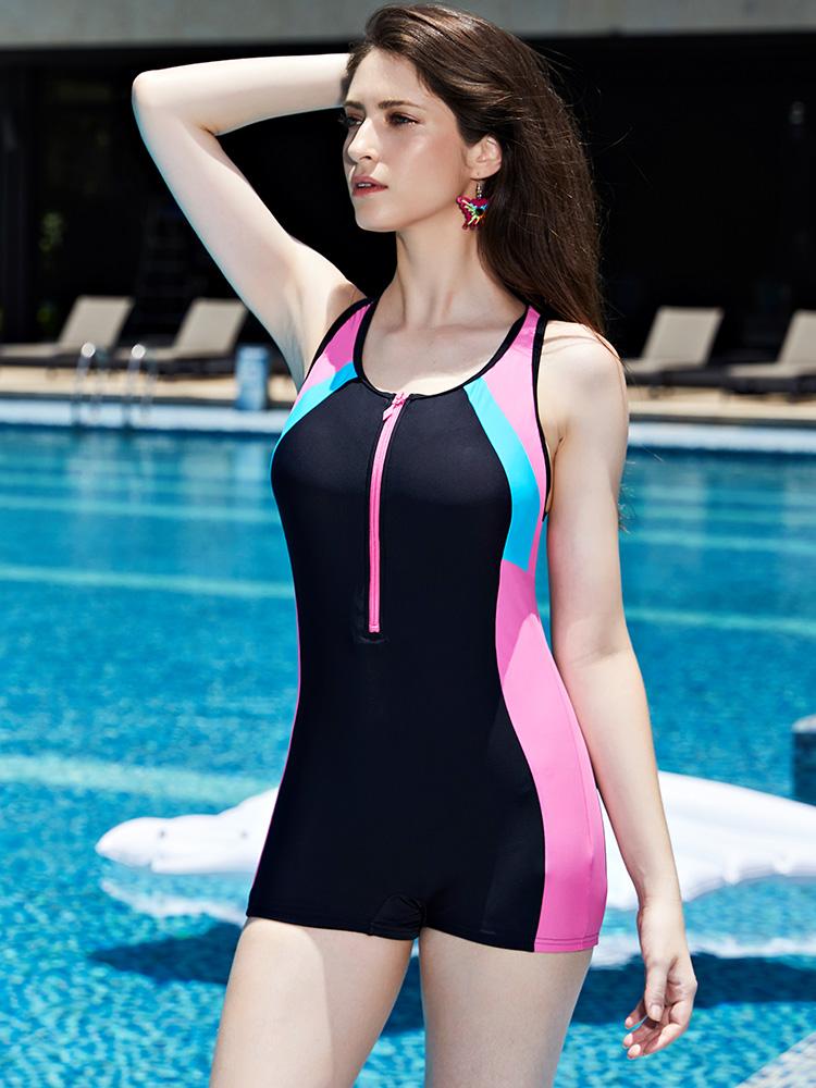 Y1907,图片2,休闲连体平角泳衣