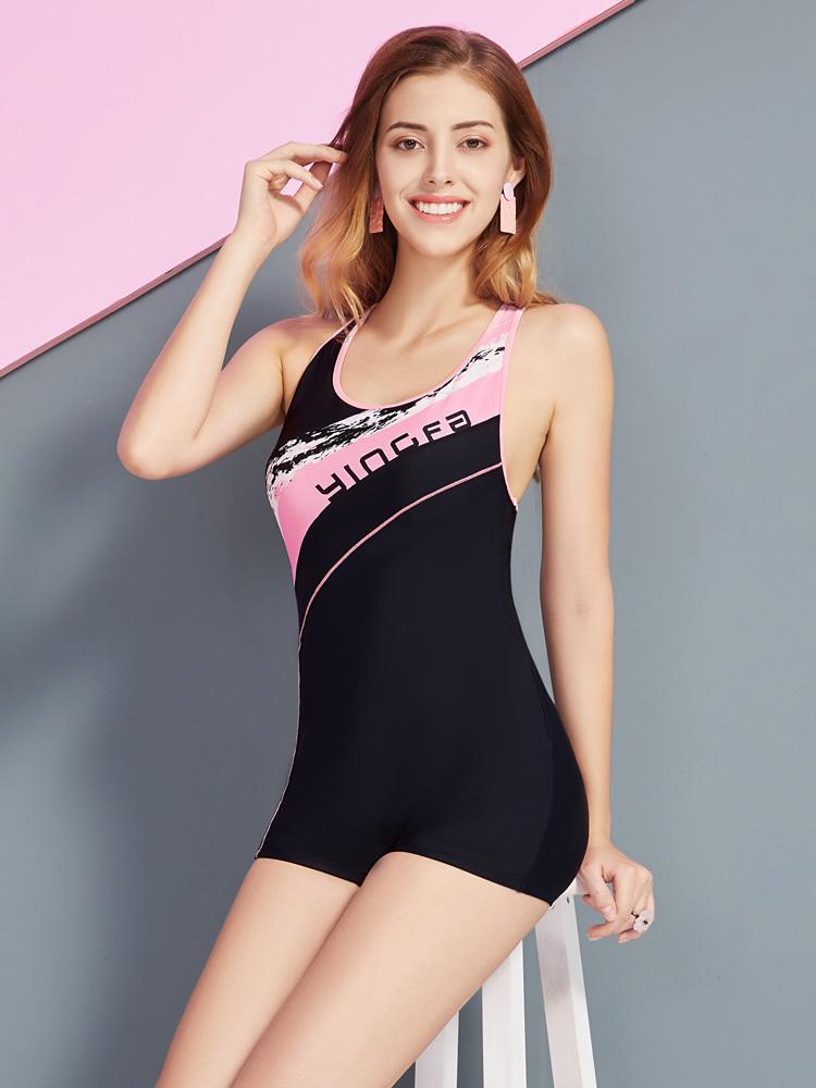 Y1927,图片3,休闲连体平角泳衣