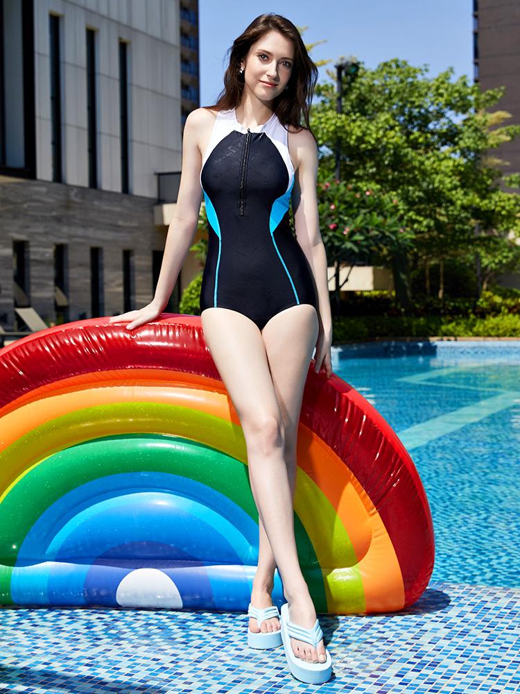 Y1917,图片2,休闲连体三角泳衣