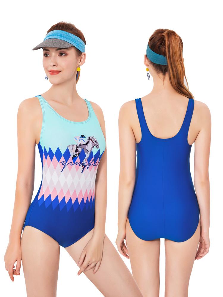 Y2028,图片4,休闲连体三角泳衣