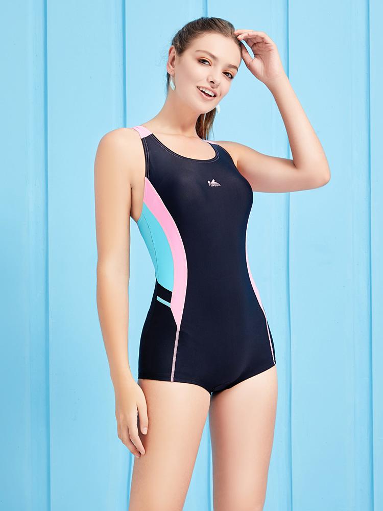 Y1926,图片2,休闲连体平角泳衣