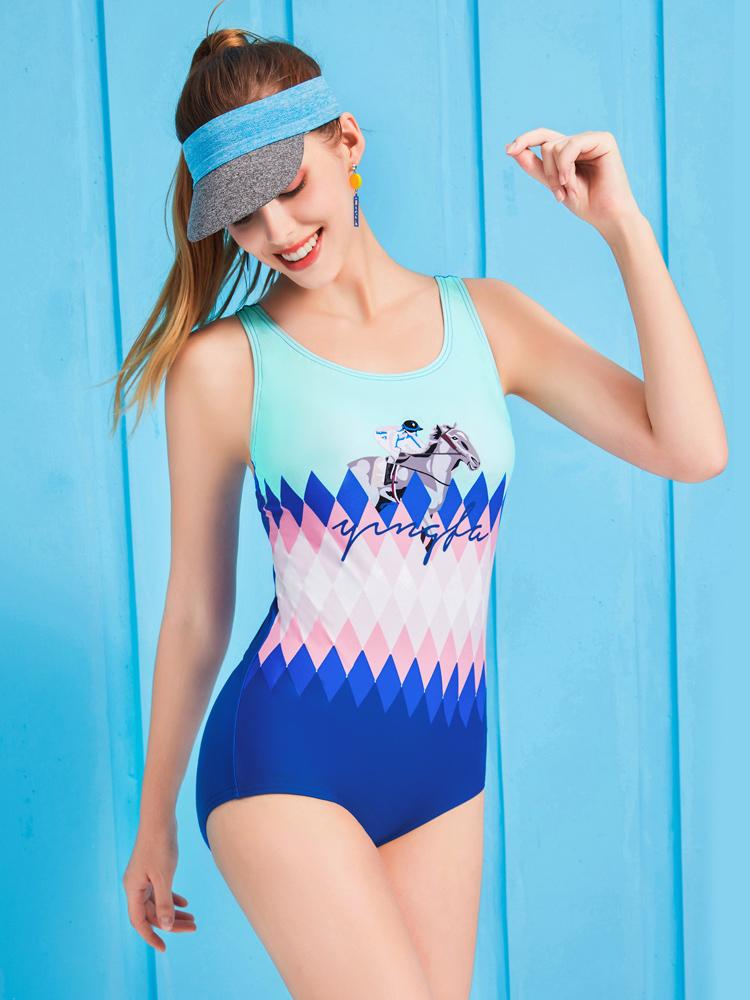 Y2028,图片2,休闲连体三角泳衣