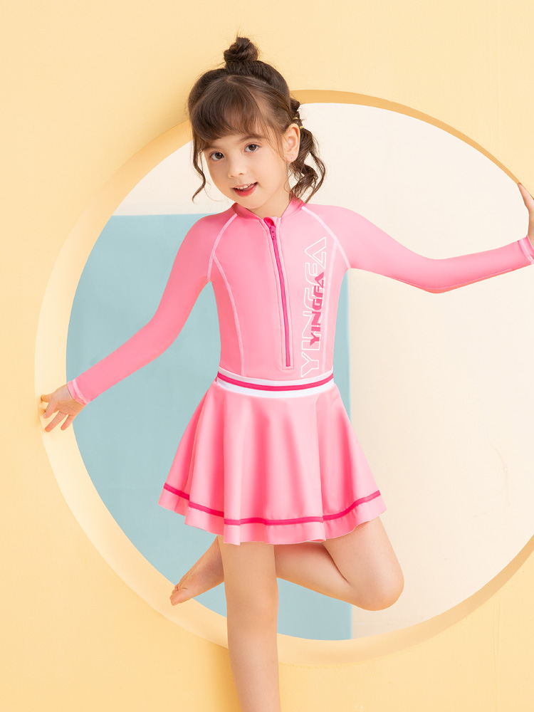 Y0522,图片2,儿童裙式游泳衣