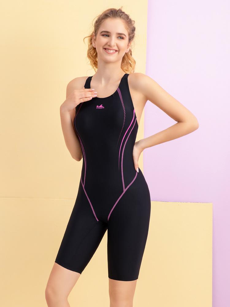 Y2138,图片1,及膝连体休闲泳衣
