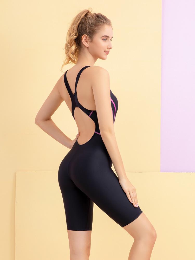 Y2138,图片2,及膝连体休闲泳衣