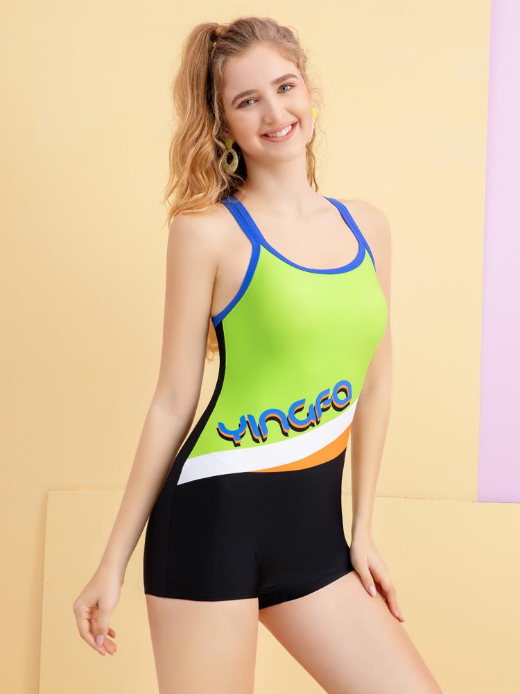 Y2105,图片1,连体平角泳衣