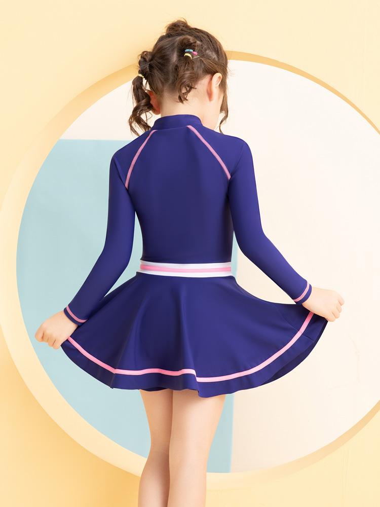 Y0522,图片1,儿童裙式游泳衣